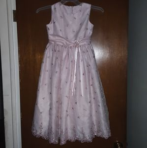 Rare Editions girls 8 pink floral holiday dress